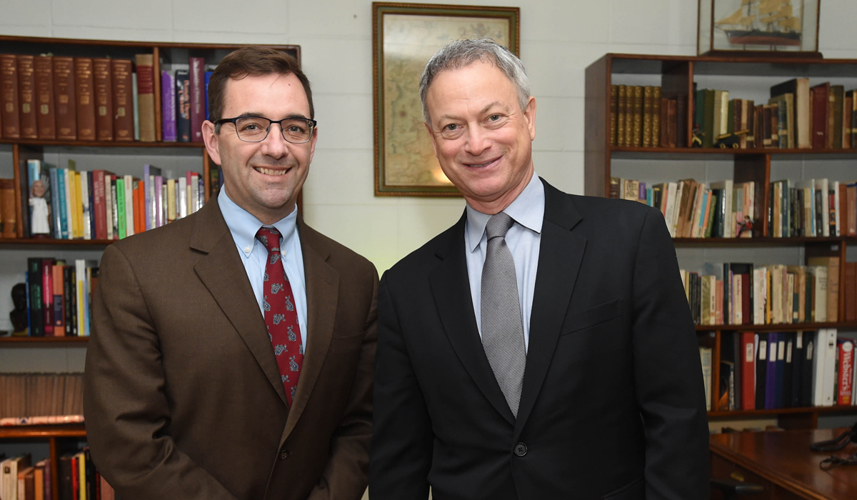 Gary Sinise at Catholic University