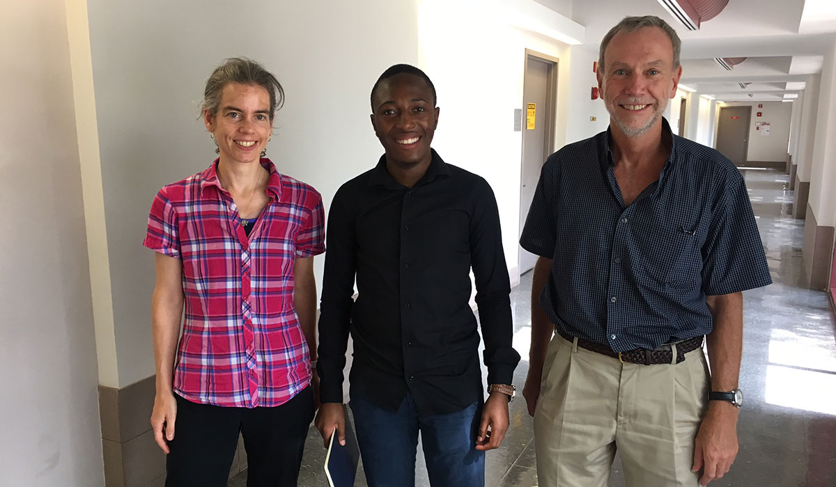 Tanja Horn, Blessed Ngwenya, and Ian Pegg