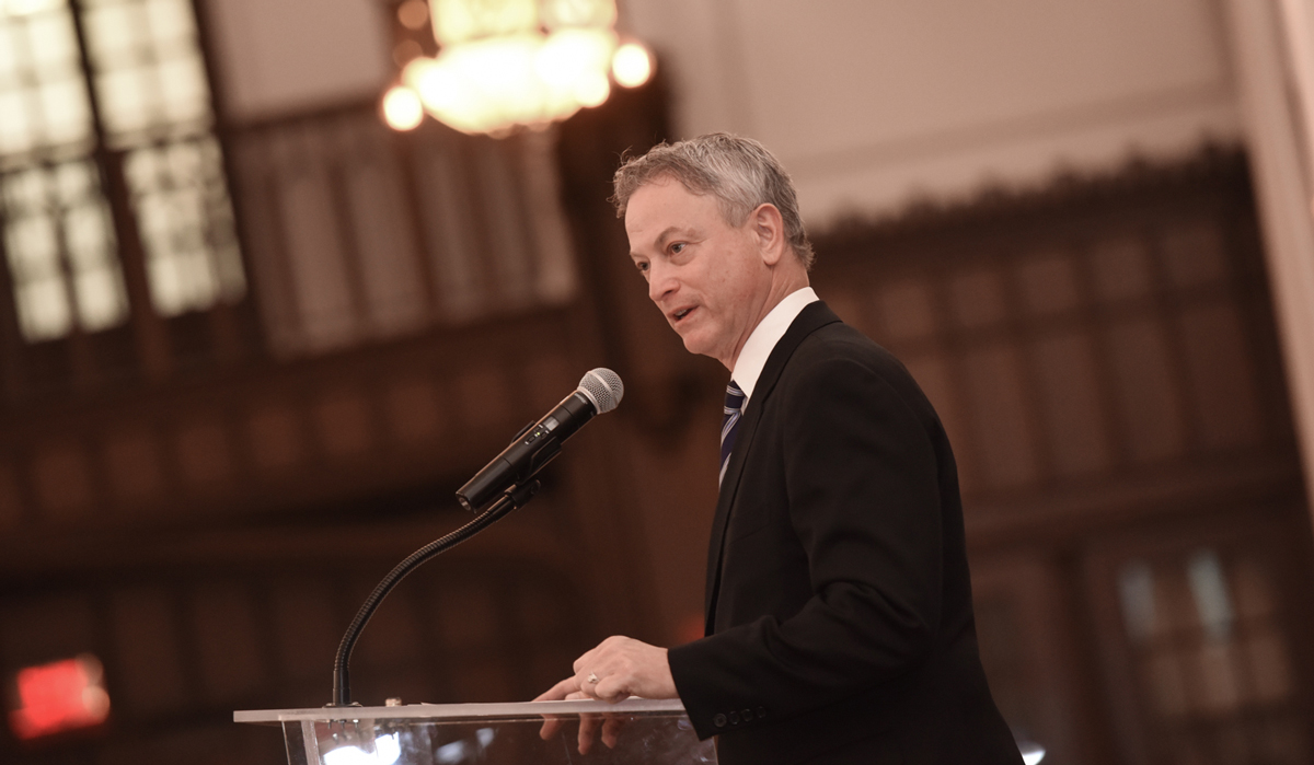 Gary Sinise at Catholic University 2017