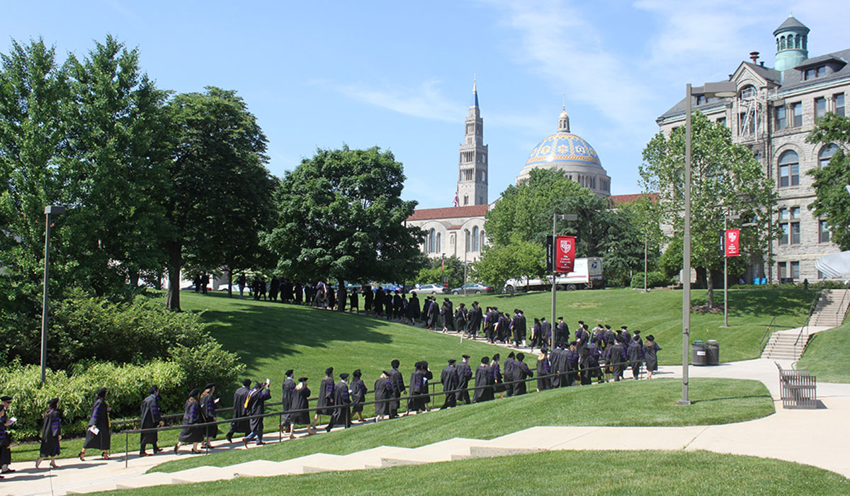 Law school commencement procession