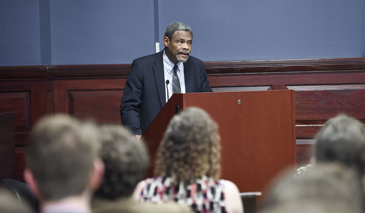 William Chester Jordan speaking