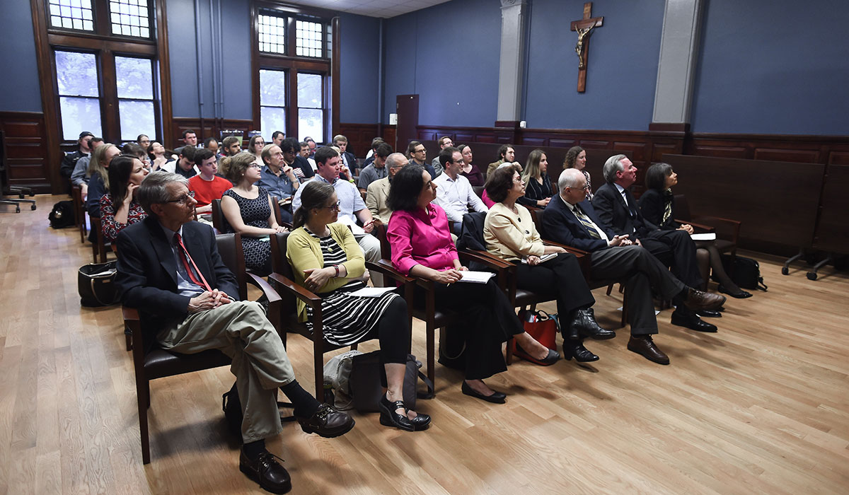 Audience for William Chester Jordan talk
