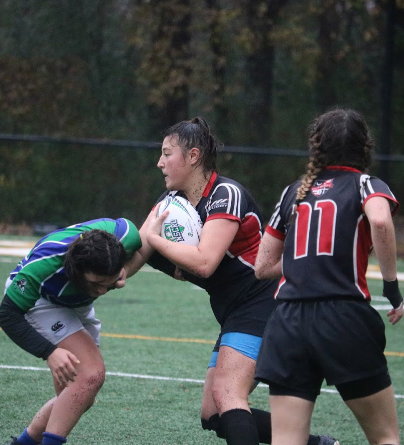 Women's rugby play in the tournament championship