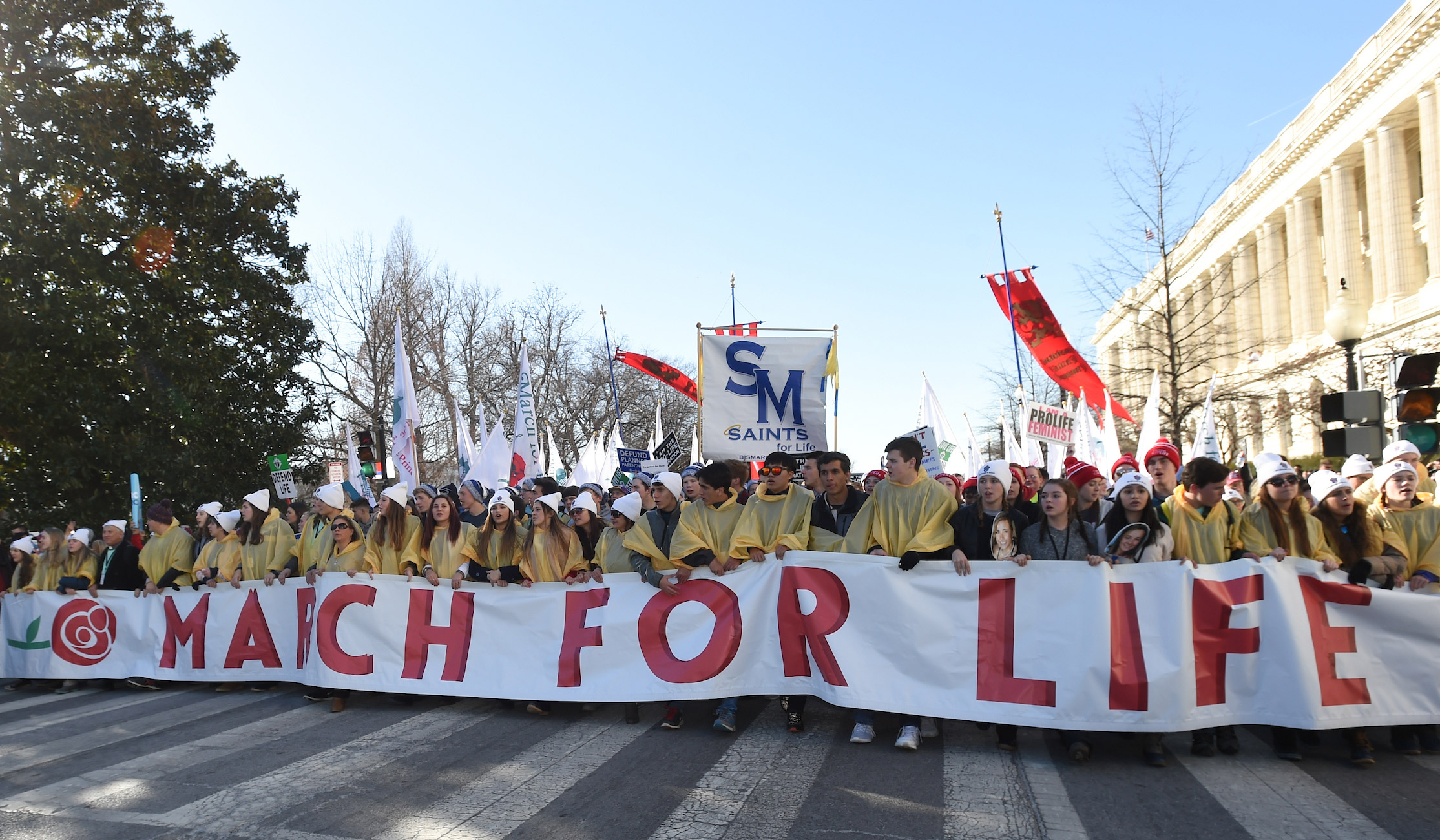 Students at the 2018 March for Life