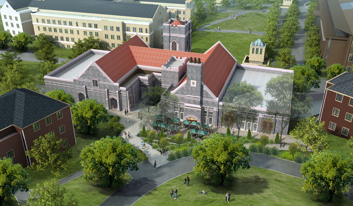 Architectural rendering of new dining hall