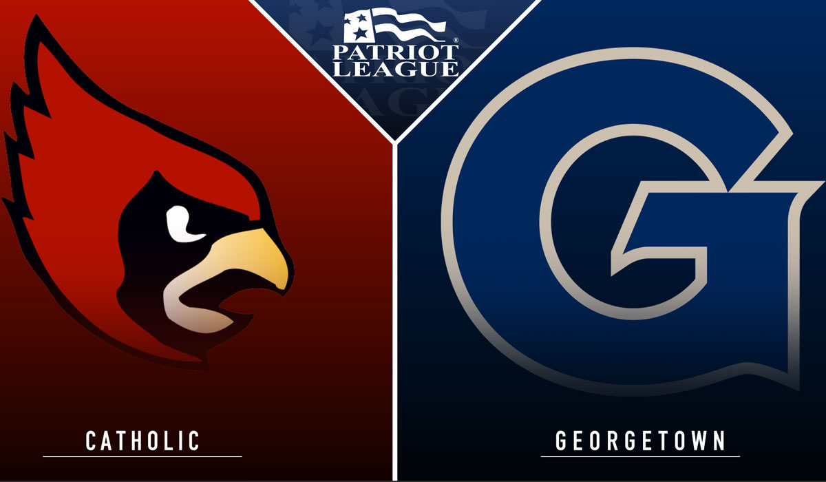 Cardinal logo and Georgetown logo of G