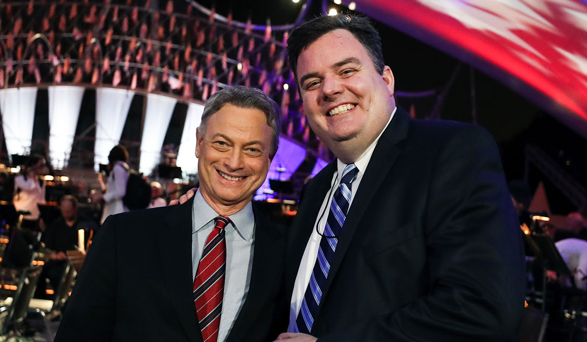 Actor Gary Sinise and Michael Colbert