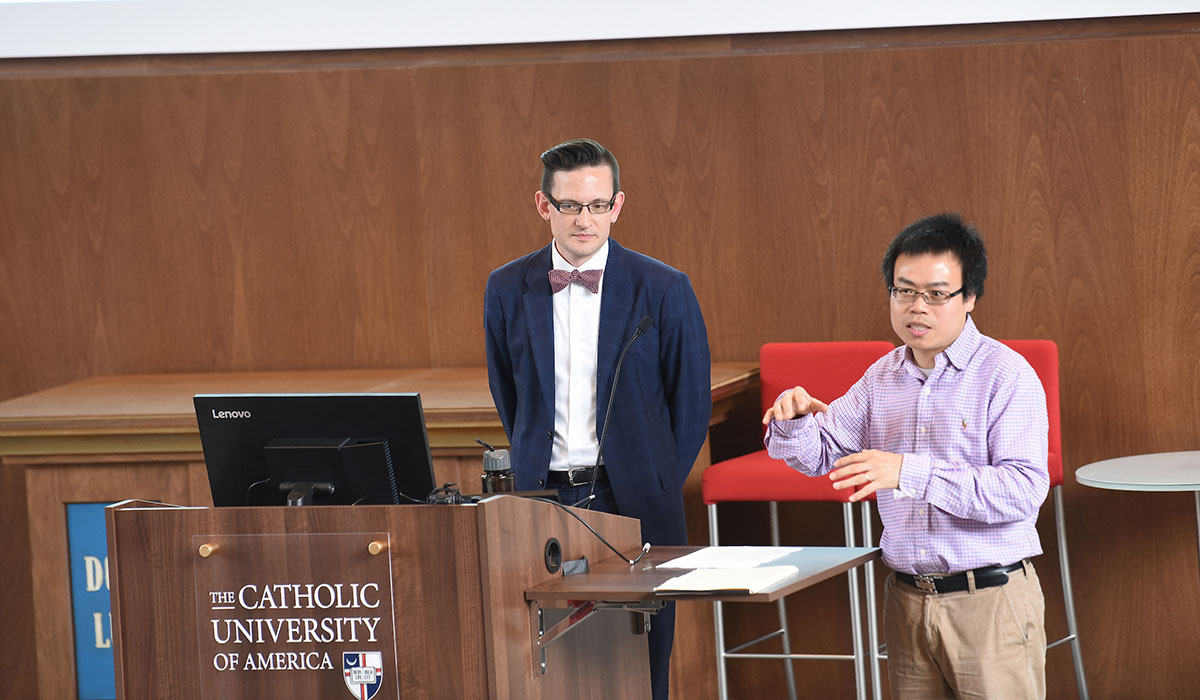 Two speakers present at Research Day