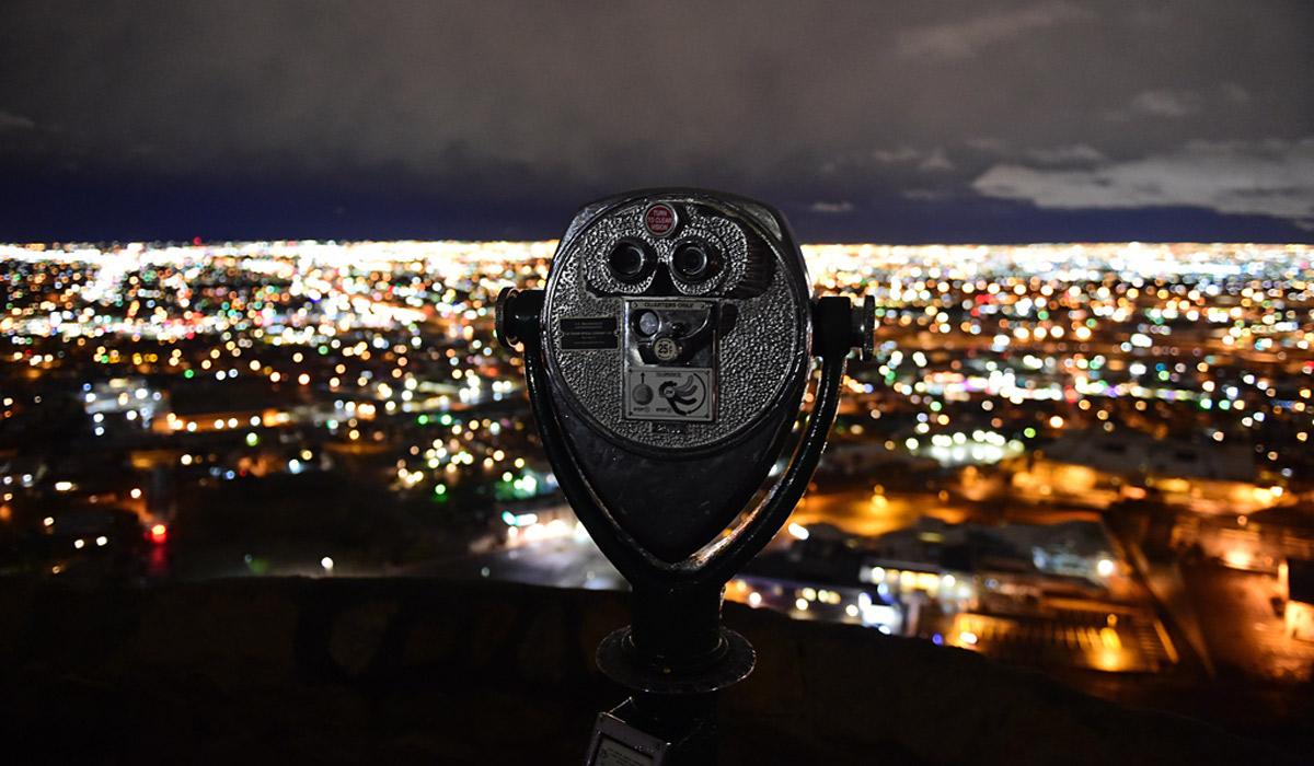 Scenic overlook of El Paso