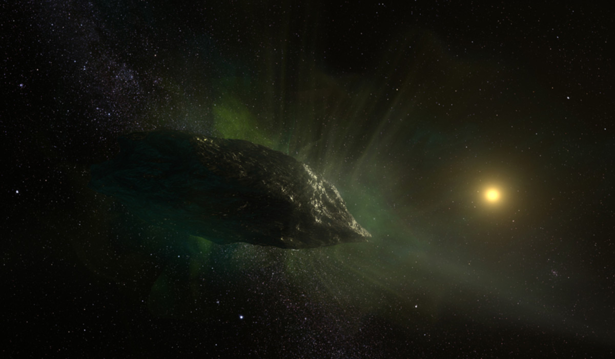 Artistic rendering of comet