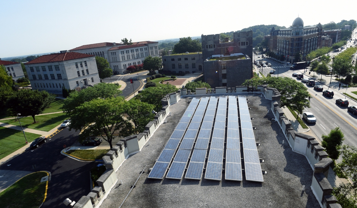 Solar Panels on Gibbons Hall