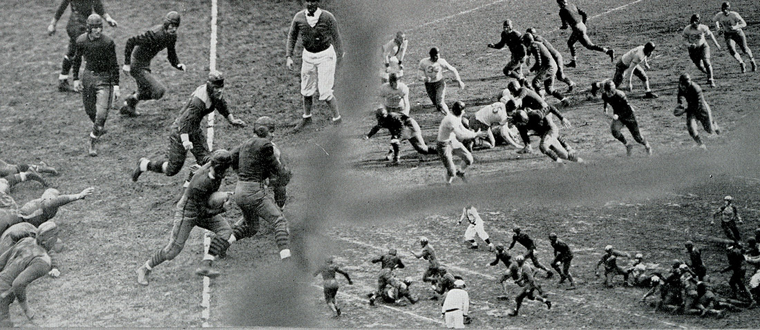 Football photos from 1936