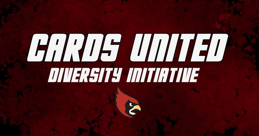 Graphic depicting the Cardinal logo and the words CARDS United