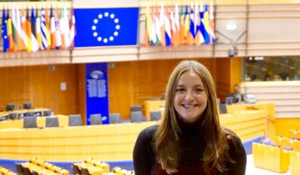 Cara Duffy in EU Parliament