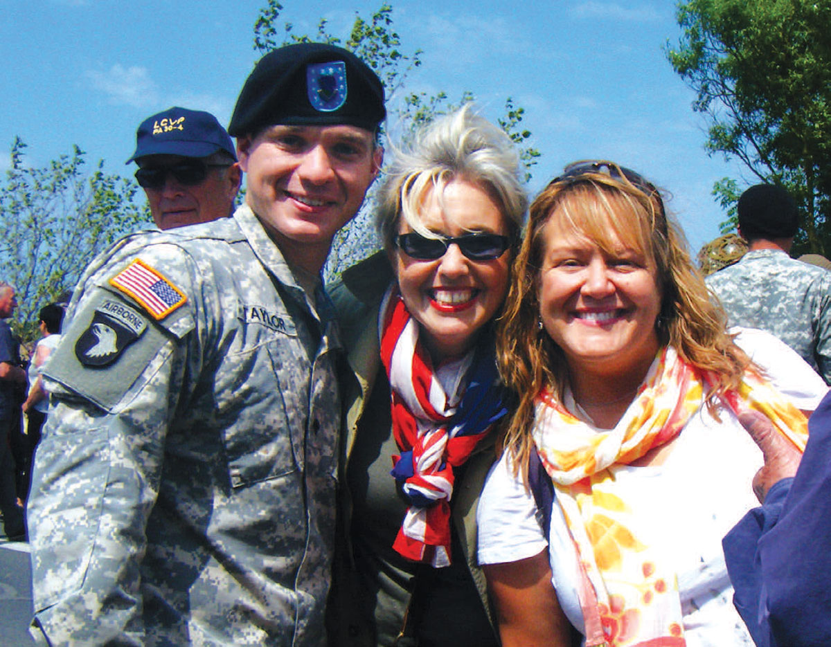 American solider and his mother and her friend
