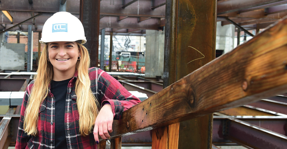 MaryKate Selgrath at a work site