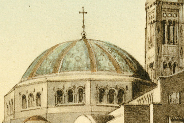 Portion of an architectural rendering of the Basilica of the National Shrine of the Immaculate Conception