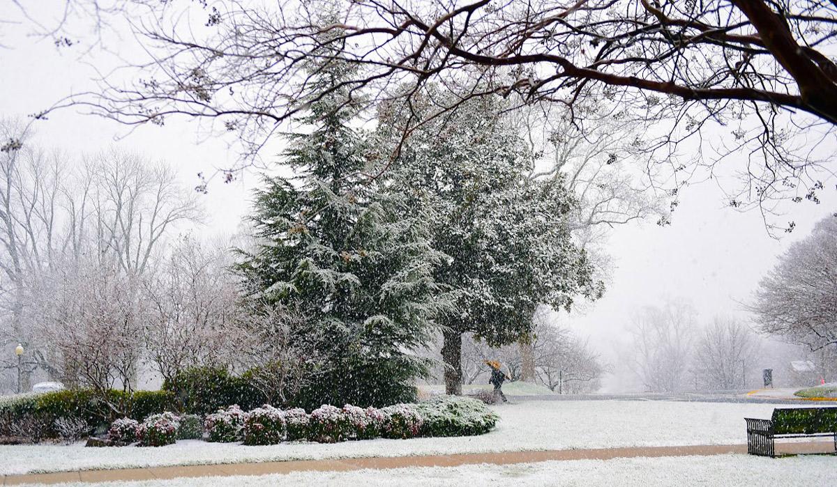 snow on campus