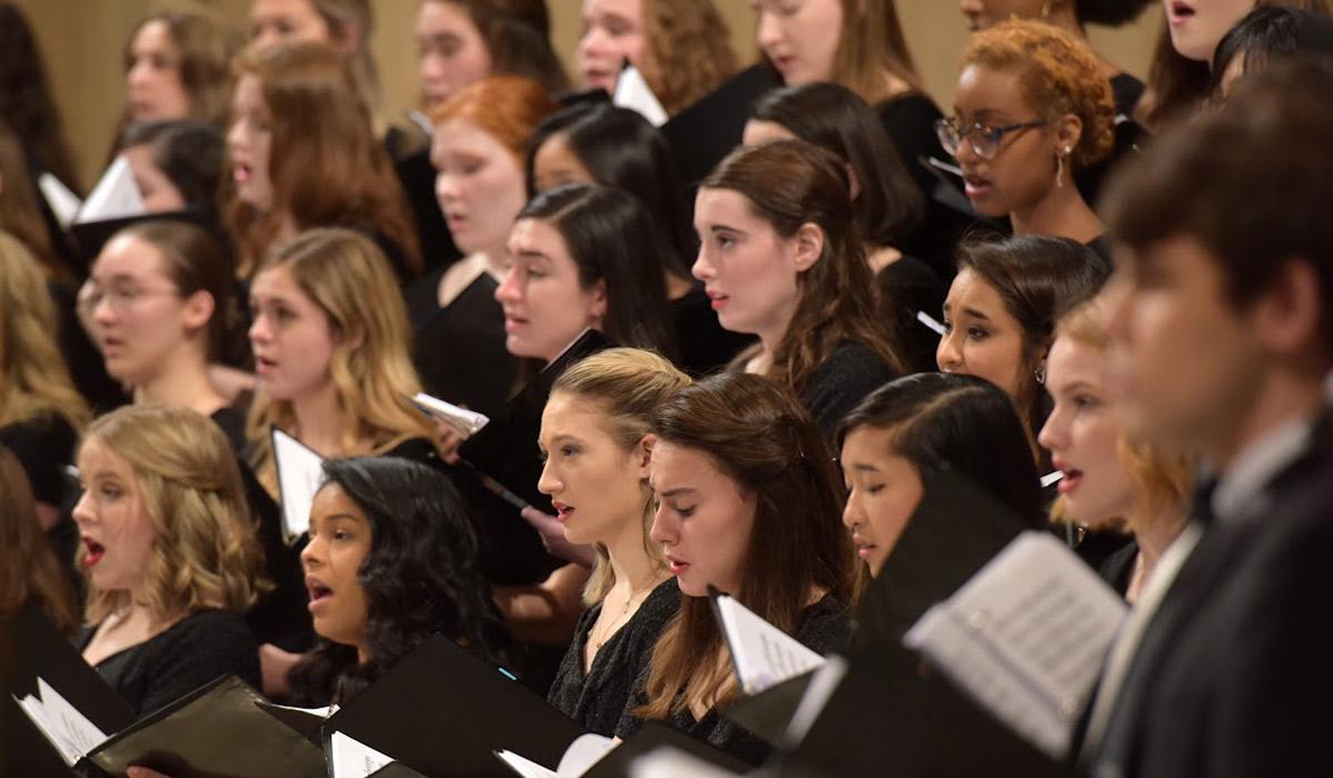 Christmas concert choir