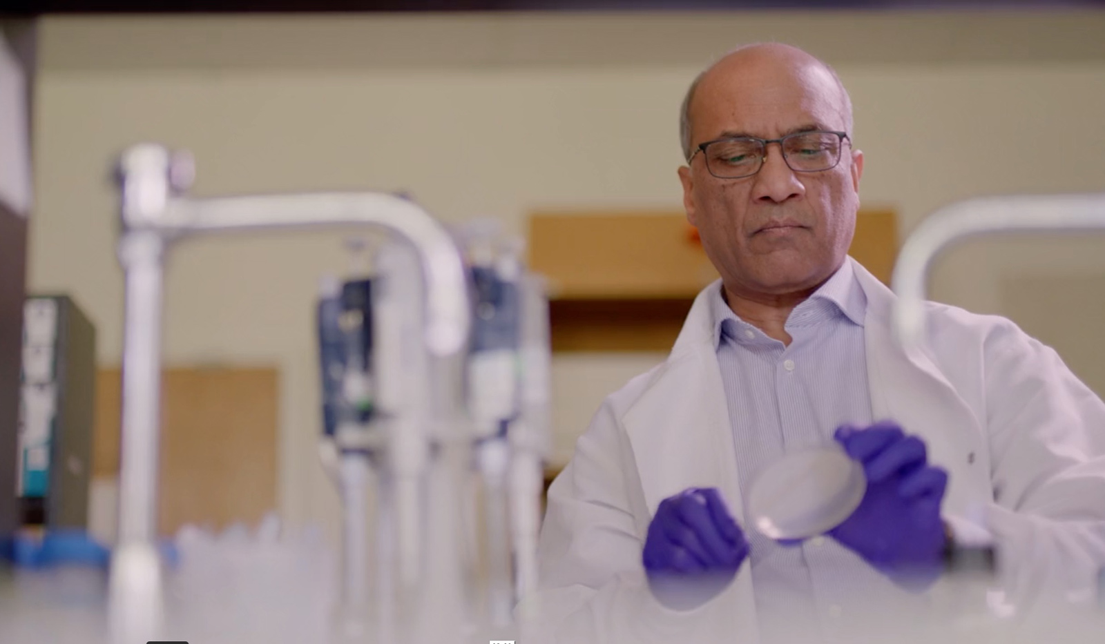Dr. Rao in his lab