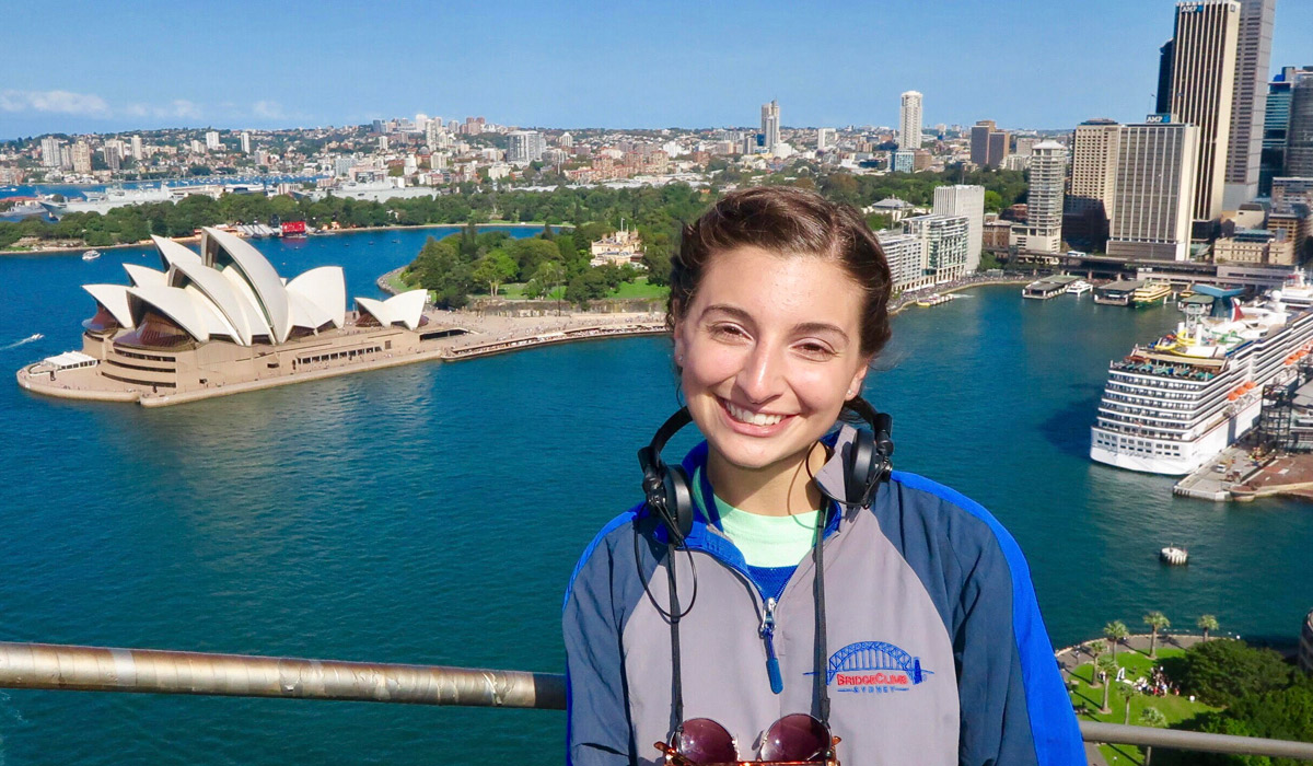 Nursing major Alexis Anelli in Australia