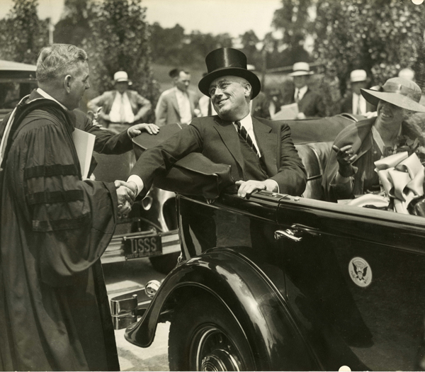 Rev. James H. Ryan and FDR